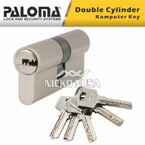 Silinder Kunci Pintu Paloma CLP 514 PLM DELUXE DC-CK 62MM SN Double Cylinder Computer Key