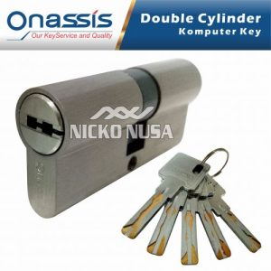 Silinder Kunci Pintu Onassis DCK CY/ONS 70MM ATMOSTECH Double Cylinder Computer Key