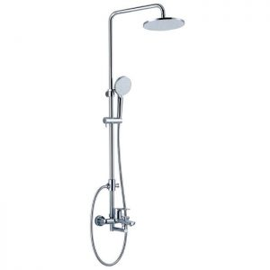 Paloma Shower Tiang Set FCP 2509 Berlin single lever bath/shower mixer with rainshower ABS