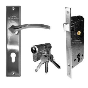 Handle Plate Set UNIKEY UK 1293 SN/CP (Handle Plate+Body+Cylinder)