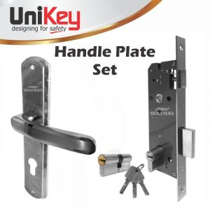 Handle Plate Set UNIKEY 867 ECO SN/CP (Handle Plate+Body+Cylinder)