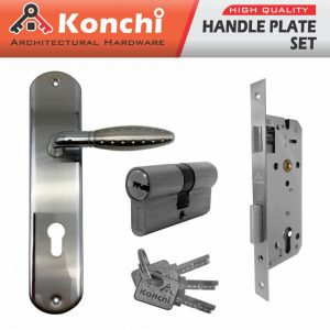Handle Plate Set KONCHI K238517 SN+CP (Handle Plate+Body+Cylinder)