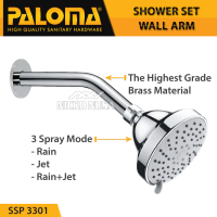 PALOMA SSP 3301 Shower Set Wall Tanam Mandi Head Kepala Tembok Paket