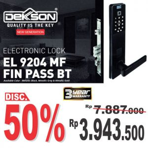ELECTRONIC LOCK DEKKSON EL 9204 RIGHT BLACK